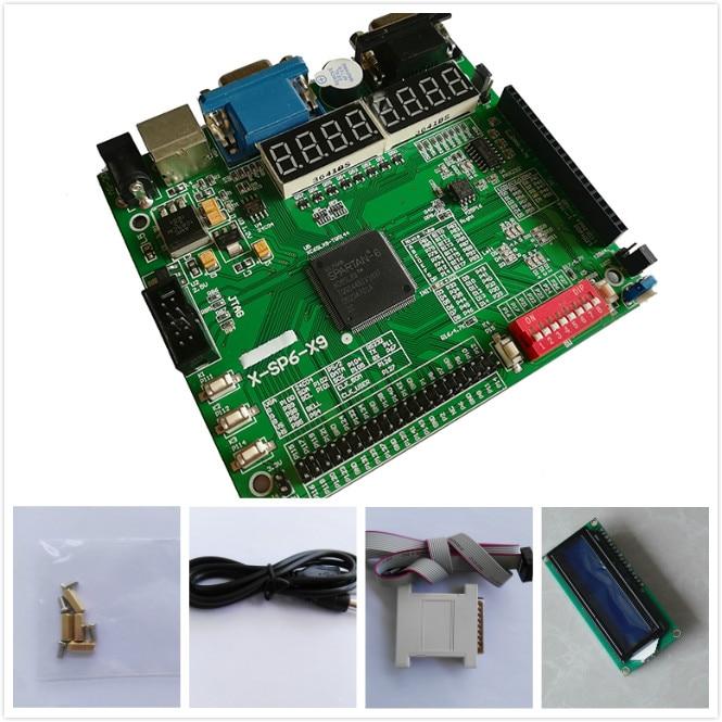 цена на Free shipping LCD1602+xilinx fpga development board spartan6 xilinx board xilinx xc6slx9-tqg144 fpga development board