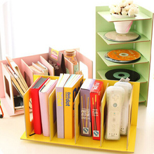 DIY Wood Board Storage Box Desk Decor Stationery Office Desk Organizer New DVD CD Rack Korean Wooden Shelf