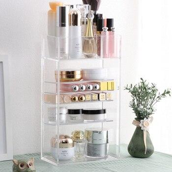 Neue Klar Acryl Make-Up Organizer Nagellack Lippenstift Kosmetische Probe Halter Make-Up Pinsel Make Up Lagerung Organizer Box Regal