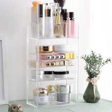 New Clear Acrylic Makeup Organizer Nail Polish Lipstick Cosmetic Sample Holder Makeup Brush Make Up Storage Organizer Box Shelf