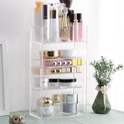 New Clear Acrylic Makeup Organizer Nail Polish Lipstick Cosmetic Sample Holder Makeup Brush Make Up Storage Organizer Box Shelf