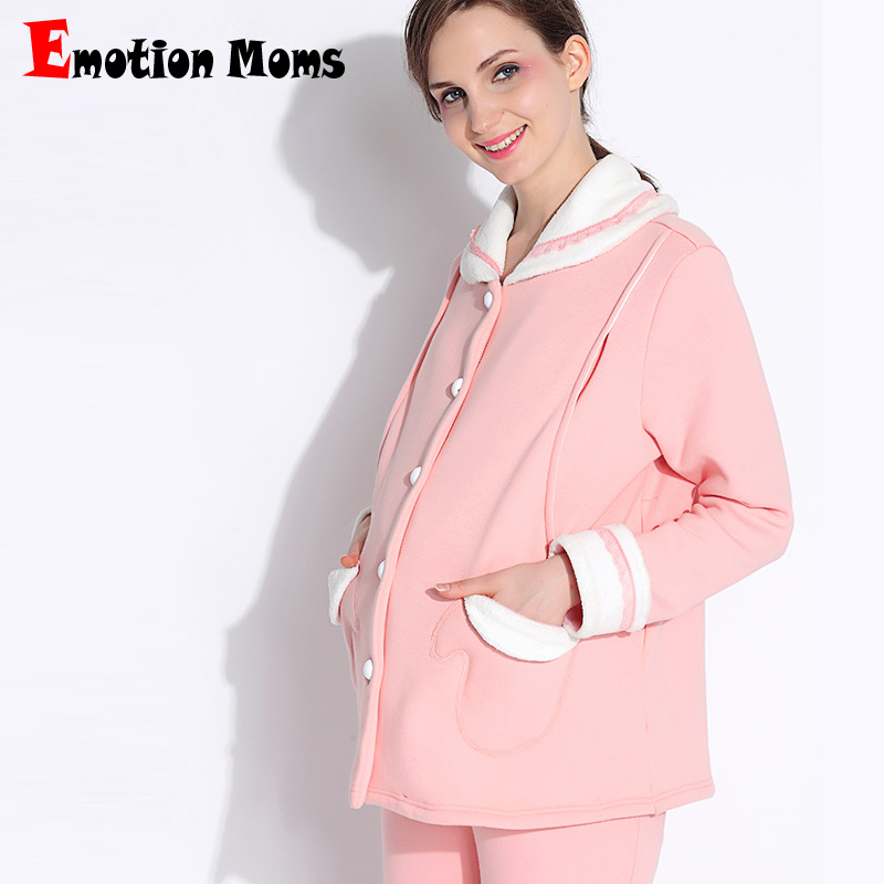 Emotion Moms maternity clothes Pregnancy Pajamas breastfeeding Pajamas Suit Nightwear nursing sleepwear Sets for pregnant women