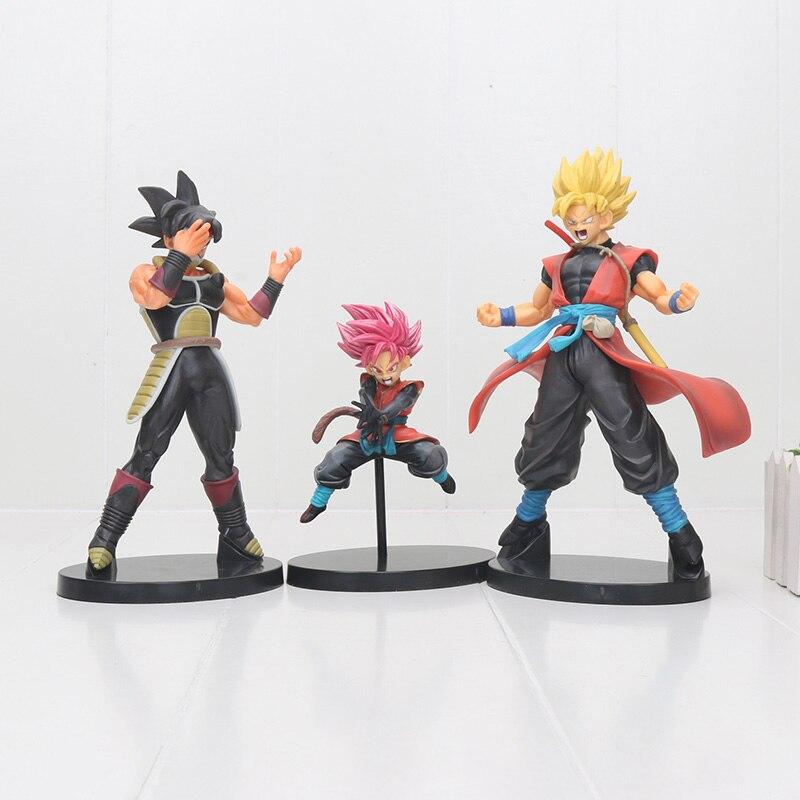 14 cm/22 cm Anime Super Dragon Ball Heroes Super Saiyan Goku Gohan Burdock 7 ° aniversario PVC figura de acción juguetes modelo