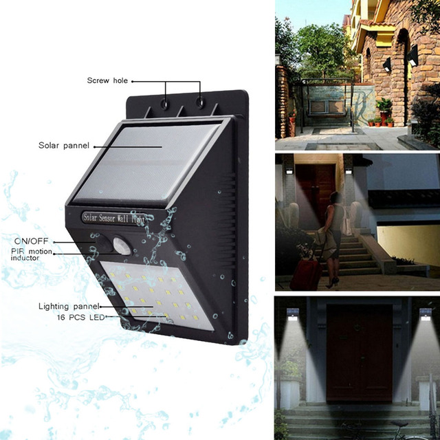 Led Solar Light Wall Lamps With Pir Motion Sensor Waterproof Green Energy For Street Yard Path Home Garden Security Fast Ship Ur