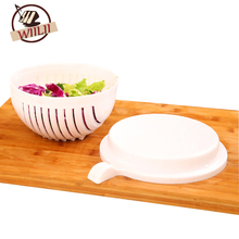 WIILII 2Pcs/Set 60 Seconds Salad Cutting Bowl For Fruit Vegetables Kitchen Tools