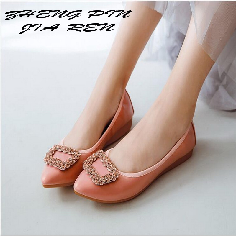 ZHENGPINJIAREN Spring Autumn new wild single shoes female flat shoes pointed head shoes soft egg roll pregnant women shoes