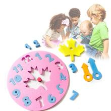Пенопластовая часовая головоломка, игрушка-головоломка, веселая математическая игра, DIY часы ручной работы, Игрушки для раннего обучения, развивающий, образовательный подарок для детей