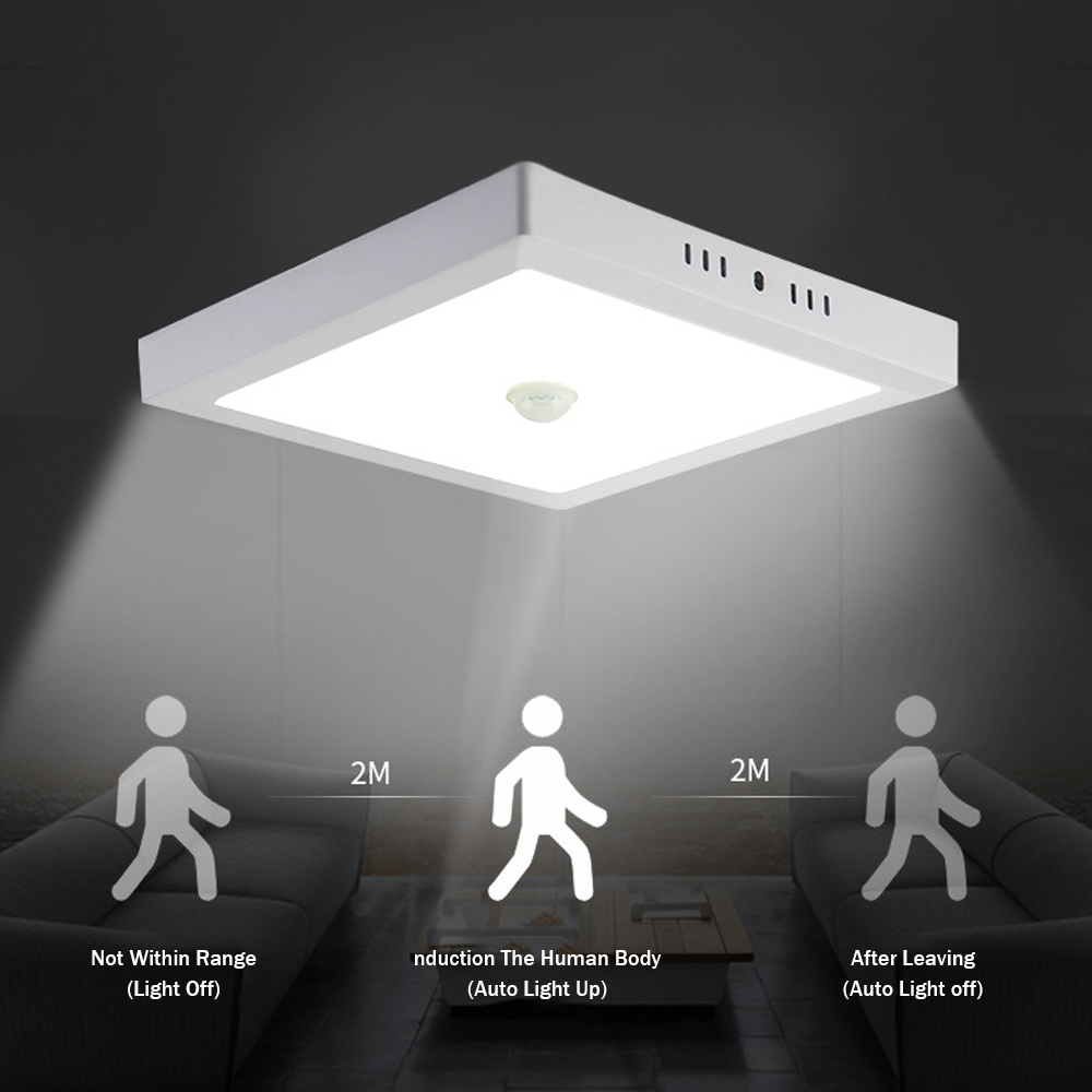 [DBF]Human Motion Sensor Led Ceiling Lights Lamparas Human Induction Ceiling Lights Fixtures for Restaurant Bathroom Aisle Stair