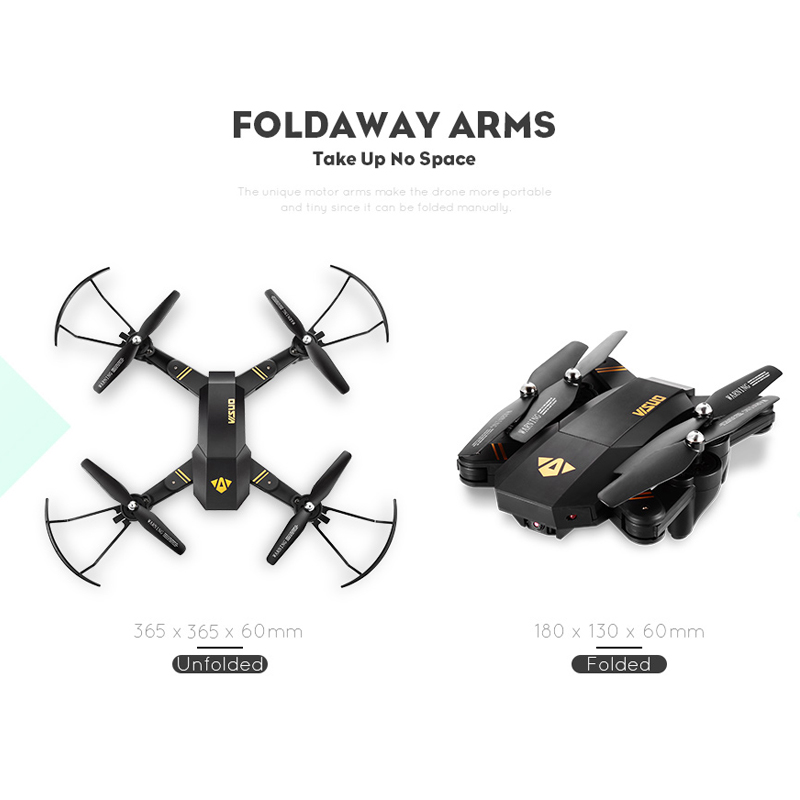 VISUO Xs809HW Xs809W Foldable Drone with Camera HD 2MP Wide Angle WIFI FPV Altitude Hold RC Quadcopter Helicopter VS H47 Dron 5