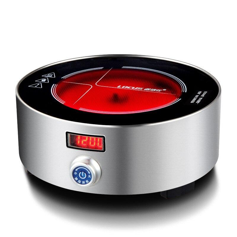 AC220 240V 50 60 hz mini fogão de cerâmica elétrica fervente chá café aquecimento 1200 w de potência 12 arquivos pode cronometrando 3 horas - 5