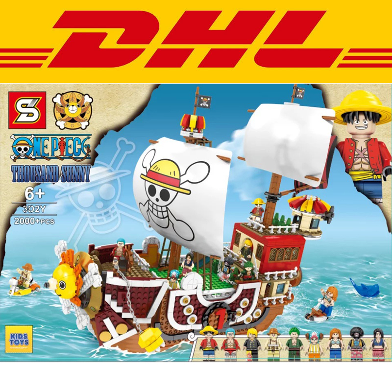 2019 New 3D2Y Movie One Piece Series Luffy Nami Thousand Sunny Ship Model Building Kits Blocks