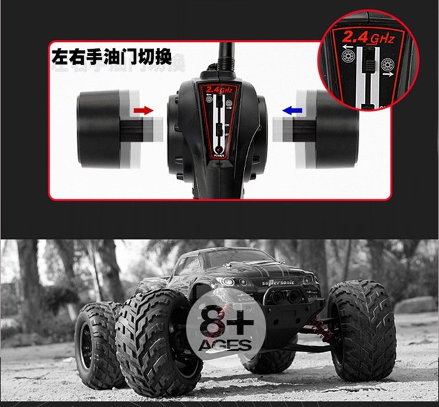 45Kmh 2.4 Ghz Drift Carrinho Controle Bigfoot Speed Gasoline Remote Control Monster Car