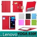 Высокое качество С карты отверстие роскошные кожаные case обложка для lenovo yoga tablet 2 830f 830L/lenovo yoga tab 3 850F 850Л случаях