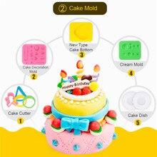 Best Non toxic Wheatmeal Play Dough Plasticine Set Kids Doughy Plasticine Tool Molds Children Educational Toy