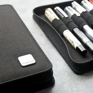 Image 3 - KACO kalem kılıfı Kalem Kutusu Çantası Mevcut 20 dolma kalem/tükenmez kalem Kutusu Tutucu Depolama Organizatör Su Geçirmez, Siyah