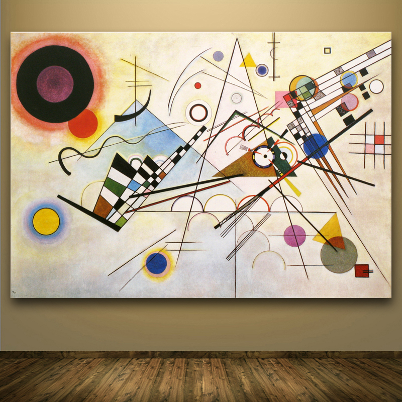 WASSILY KANDINSKY Abstract Art Painting Painting and Posters Canvas Pictures For Living Room Cuadros Art Decorative Art
