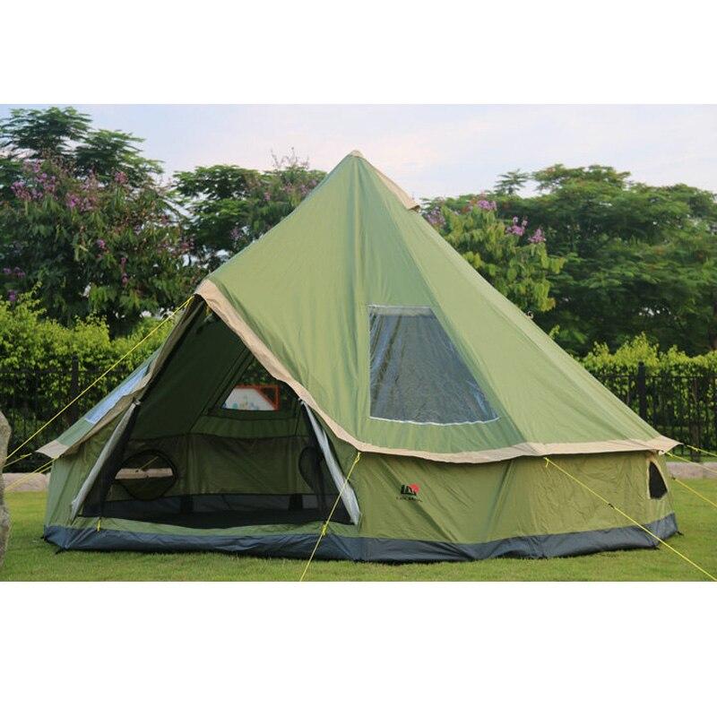 Haute qualité 5-8 personne mongolie yourte famille voyage randonnée anti moustique soleil abri auvent plage en plein air camping tente
