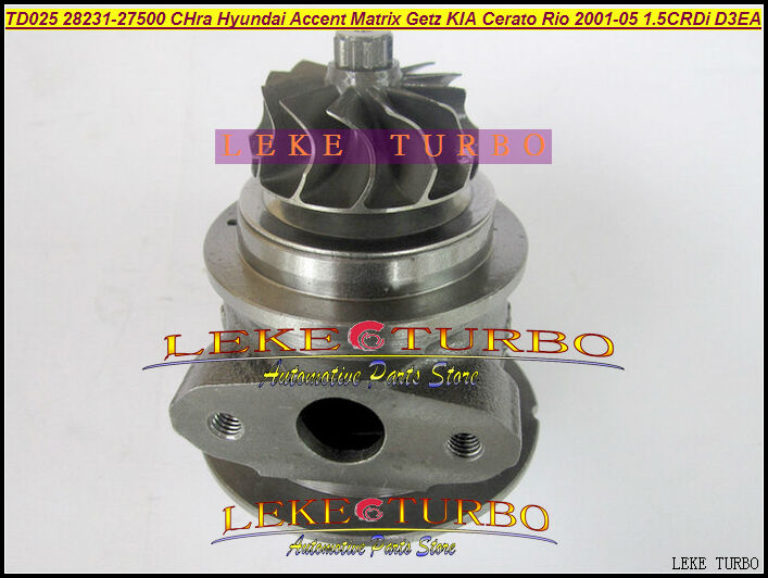 Free Ship Turbocharger Cartridge TD025 28231-27500 49173-02610 Turbo Chra For HYUNDAI Accent Matrix Getz KIA Rio CRDi D3EA 1.5L