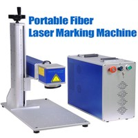 high precision portable Easy operation 20W/30W fiber laser marking machine for glasses watch and clocks, computer keyboard