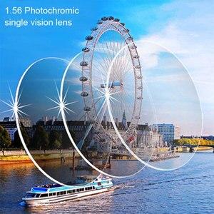 Image 4 - 1.56 포토 크로 믹 그레이 또는 브라운 싱글 비전 렌즈 SPH 범위 6.00 ~ + 6.00 Max CLY  4.00 안경 용 광학 렌즈