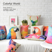 Nordic Color geometry Animal Simple modern Pillow Cover Home Decorative Pillows Linen Pillow Case Office Sofa Cushion Cover