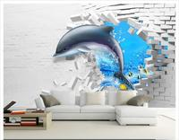 custom-photo-wallpaper-3d-wall-murals-wallpaper-mediterranean-dolphin-3d-fashion-mural-background-wall-papers-for-living-room