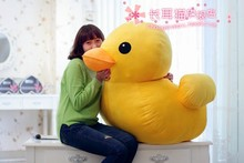 huge plush yellow duck toy lovely big yellow duck doll pillow birthday gift about 100cm