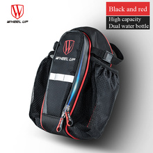 Bicycle Saddle Bag With Water Bottle Pocket Waterproof Bike Rear Bag Cycling Rear Seat Tail Bag Bicycle Accessories