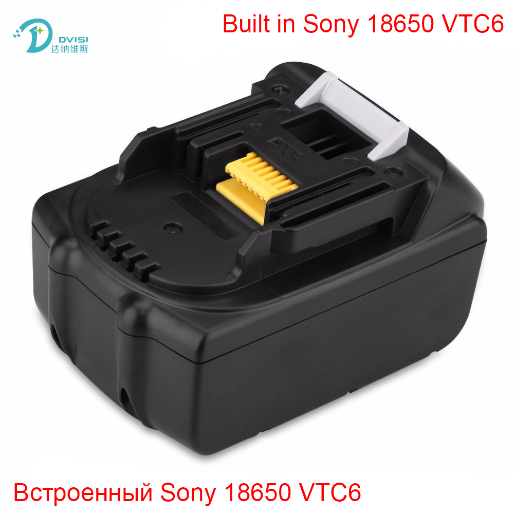 18V 6000mAh Rechargeable Battery Built in Sony 18650 VTC6 Li-Ion Batteries Replacement Power Tool Battery for MAKITA BL1860 стоимость
