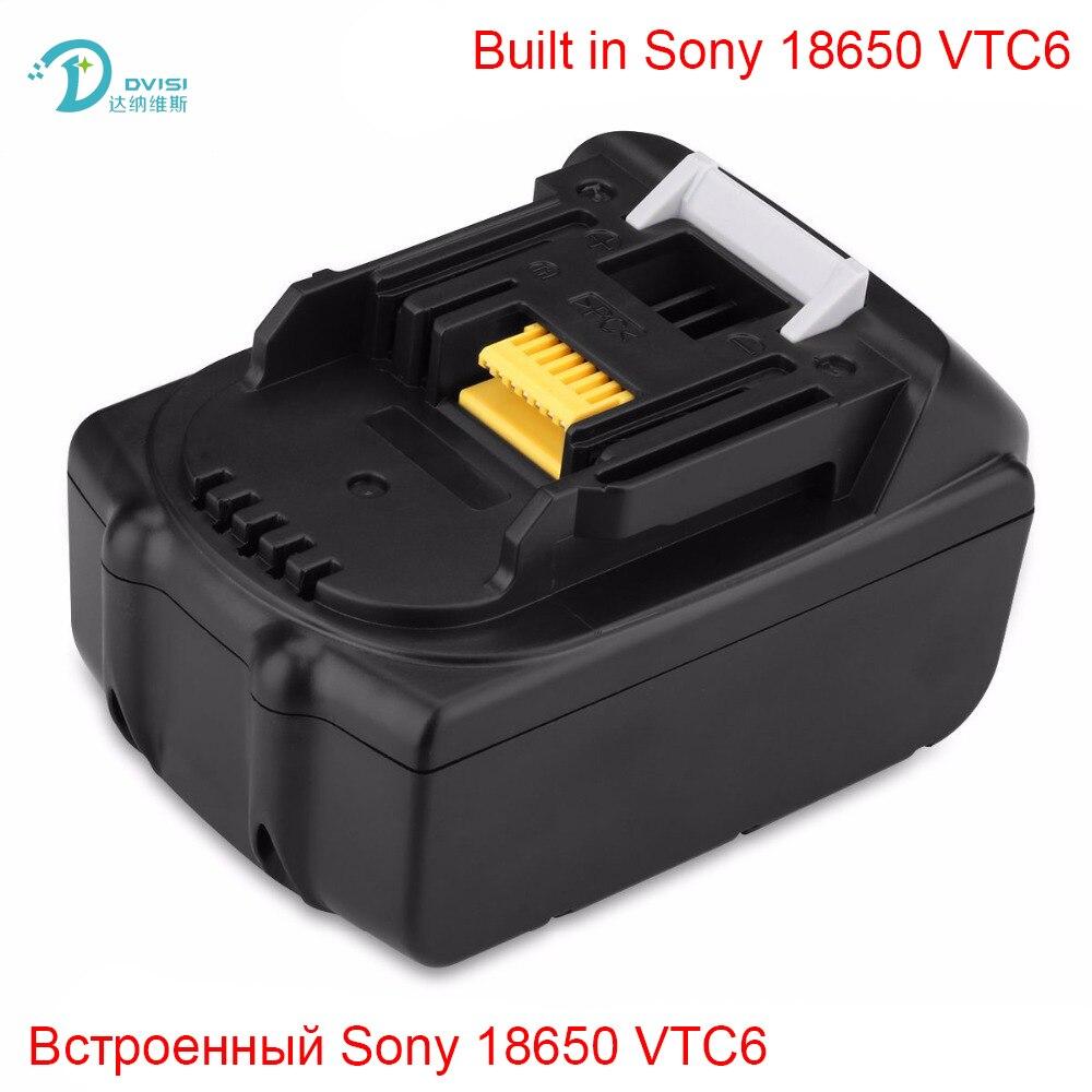 18V 6000mAh Rechargeable <font><b>Battery</b></font> Built in Sony <font><b>18650</b></font> <font><b>VTC6</b></font> Li-Ion <font><b>Batteries</b></font> Replacement Power Tool <font><b>Battery</b></font> for MAKITA BL1860