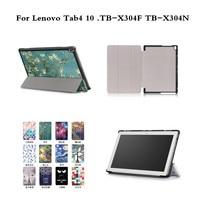 Print PU Leather Flip Case For Lenovo TAB 4 10 TB X304F TB X304N With Flip