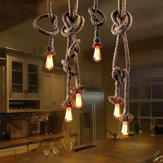 Vintage Pendant Light Loft Industrial Lamp Edison Bulb American Style For Bedroom Dining Room Home Decoration Led Lamps