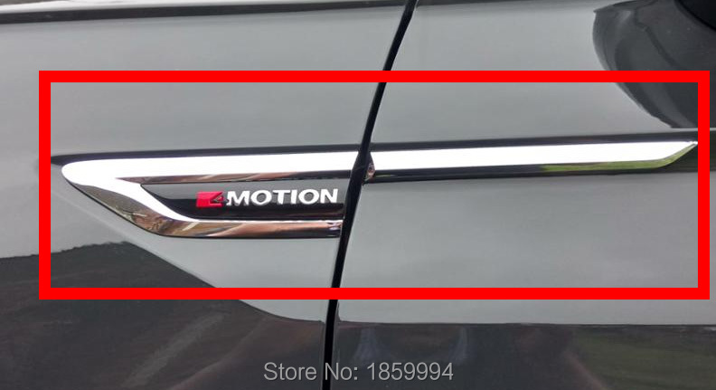 Per il 2016 2017 2018 VW Tiguan mk2 4 Motion 4 proposta 4X4 originale porta Laterale Wing Fender Emblem Badge sticker Trim