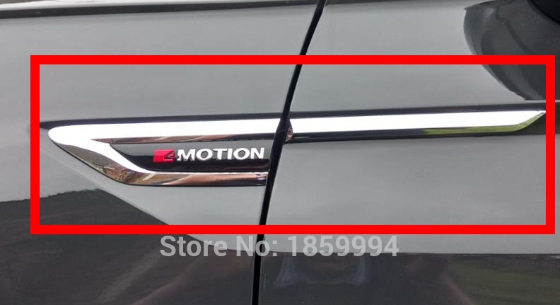 Untuk 2017 2018 2019 VW Tiguan mk2 4 Gerak 4Motion 4X4 asli pintu Side Wing Fender Emblem Badge sticker Potong