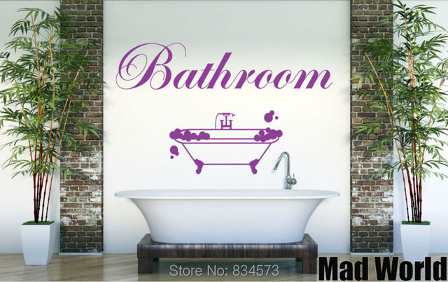 Mad World Relax Bathroom Wall Art Stickers Wall Decal Home DIY ...