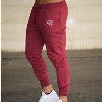 2018 Men Gyms Long pants Mid Cotton Men's Sporting workout fitness Pants casual Fashion sweatpants jogger pant skinny trousers 2