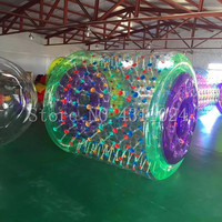 Бесплатная доставка 2,4*2,2 м красочный надувной шар для ходьбы по воде оборудование для игр в воде водяной цилиндр Аква прокатки мяч