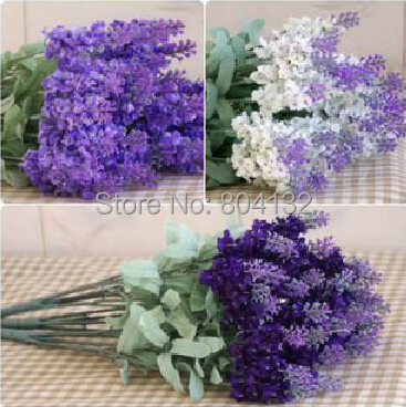 100pcs lavender bouquet simulation flower silk flower artificial 100pcs lavender bouquet simulation flower silk flower artificial flower lilac dark purple white color in artificial dried flowers from home mightylinksfo