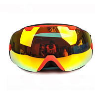 PROPRO Ski Goggles Double Layer PC Lens Half Face Cover Anti Fog UV 400 Protection Skiing
