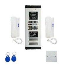 Товар Пресс прямой набор Невидимый дверной для системы домофона для 2-квартиры аудио дверной телефон, ID карты и разблокировка пароля