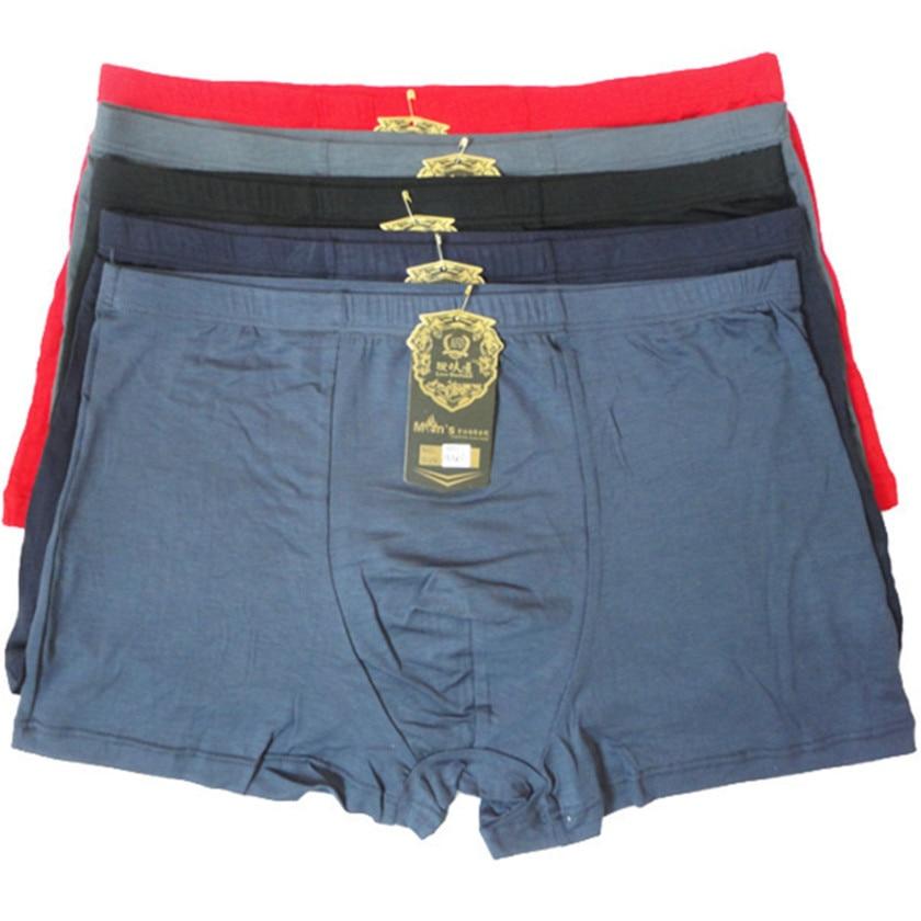 Bamboo Underwear Panties Men Boxer Flat-Feet High-Quality Plus-Size XXXXL Fasion