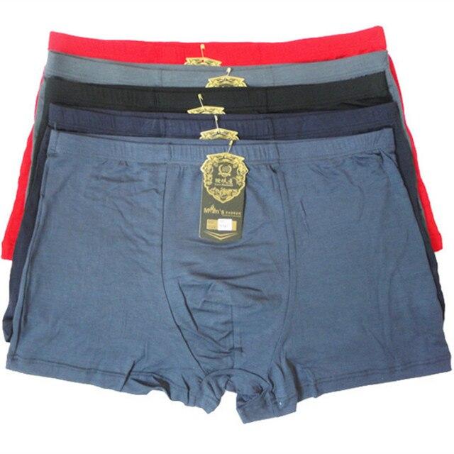 Fasion High Quality Bamboo Underwear Men XL XXL XXXL XXXXL 5XL 6XL 7XL Size Men Boxer Underwear Plus Size Flat Feet Panties