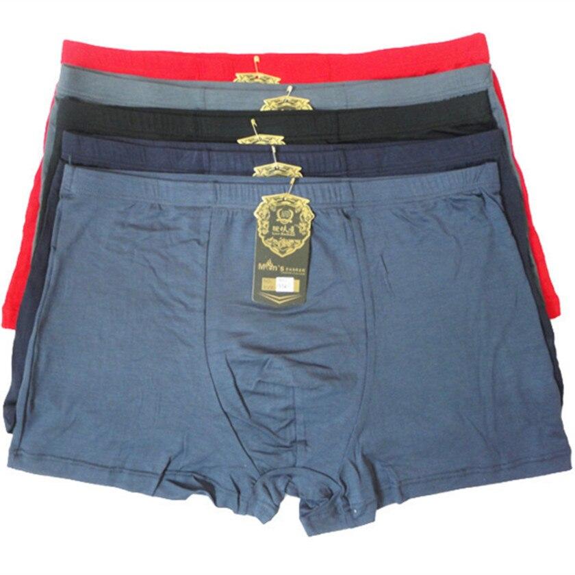 77c1c76ed Fasion alta qualidade Bamboo Underwear Men XL XXL XXXL 5XL tamanho homens  cueca Boxer Plus Size calcinhas pés chatos