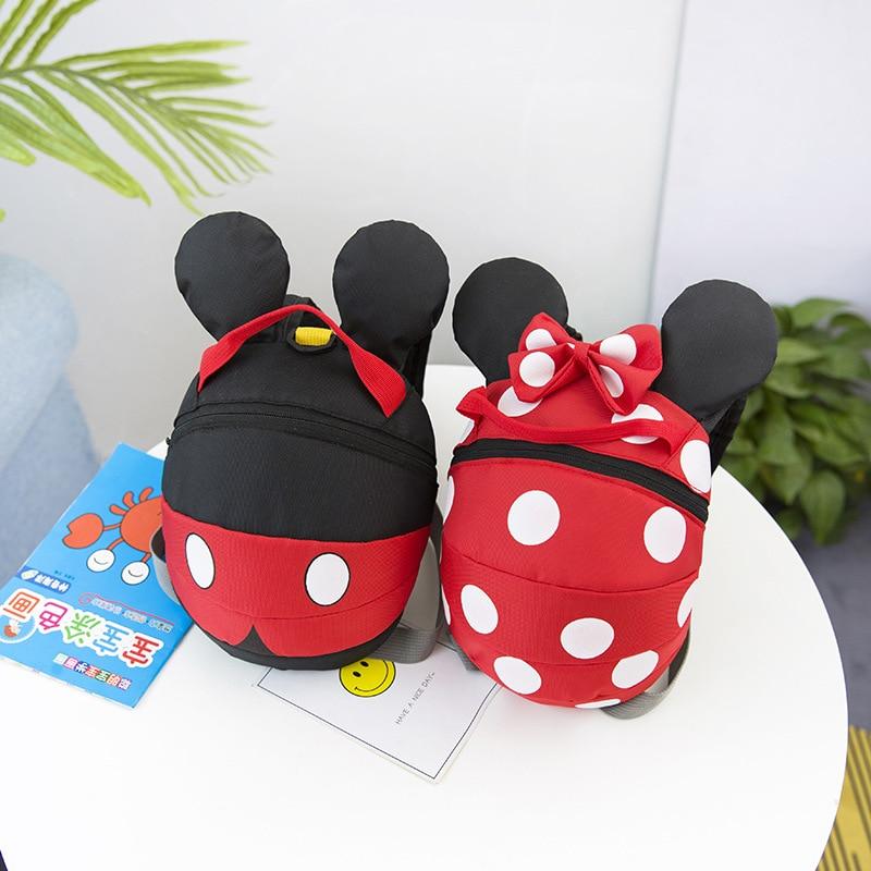 Disney Backpack Kindergarten Mickey Outdoor Children Cartoon Wandered-Off-Prevention-Backpack
