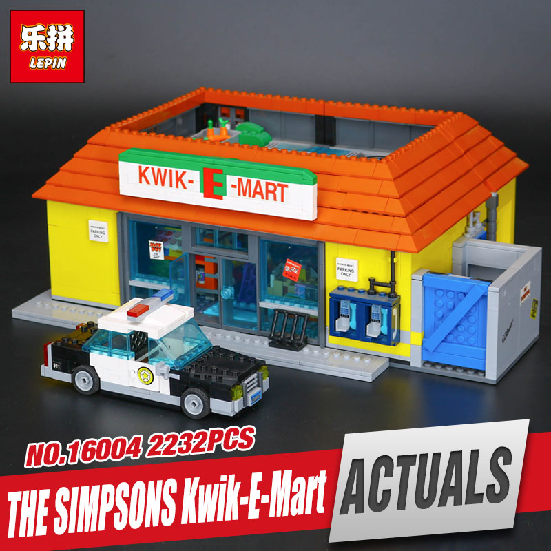 Free Shipping LEPIN 16004 The Simpsons Kwik-E-Mart Educational Building Blocks Set Bricks Kits Christmas Gift Clone 71016 mart laar the power of freedom