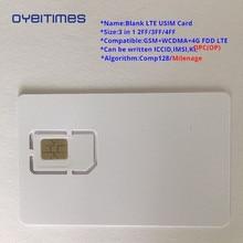 OYEITIMES Blank SIM Card 4G LTE Programmable Mobile Phone ICCID IMSI PIN PUK ADM KI Milenage COMP128 Algorith
