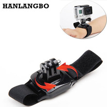 Sj4000 360 Degree Rotate Wrist Hand Strap for GoPro Hero 5 4 3+ Band Mount Holder for Go Pro Xiaomi Yi Action Camera Accessories