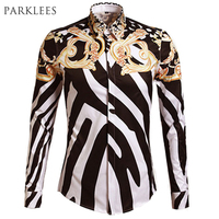 Luxury Mens Dress Shirts 2015 New Arrival Men Slim Fit Printed Shirt Casual Brand White Non