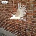 Белая настоящая жизнь крылья голубь Модель Пена и перо розовый рот и ноги голубь кукла-птичка около 28x50 см xf0062