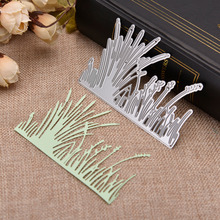 купить Hemere 10*6.9cm Calamus grass Metal Cutting Dies Stencil for DIY Scrapbooking Craft Die Cuts Easter Decorative Paper Photo Cards по цене 126.16 рублей